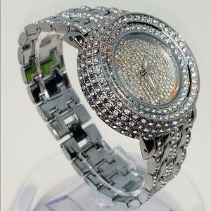 Jewelry - Beautiful Diamond Crystal Quartz Watch 40mm